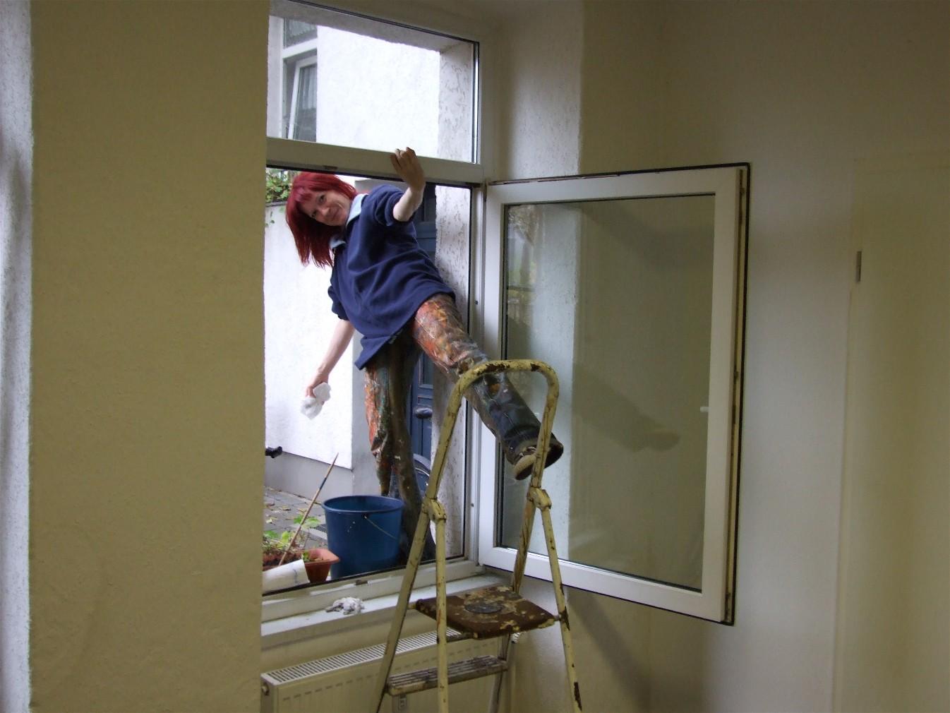 Neues atelier in magdeburg buckau abstrakte kunst - Am besten fenster putzen ...