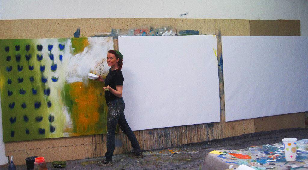 grossformatige abstrakte malerei conny niehoff malerei