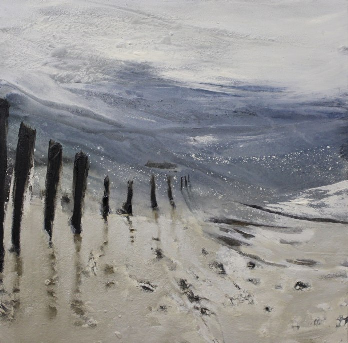 Ebbe und Flut, 80/80 cm, Acryl auf Leinwand, 2014, abstrakte Malerei, abstrakte Kunst, Bilder kaufen, Atelier Conny Niehoff