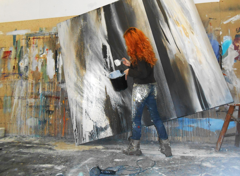 Großformatige abstrakte Malerei – Conny Niehoff-Malerei