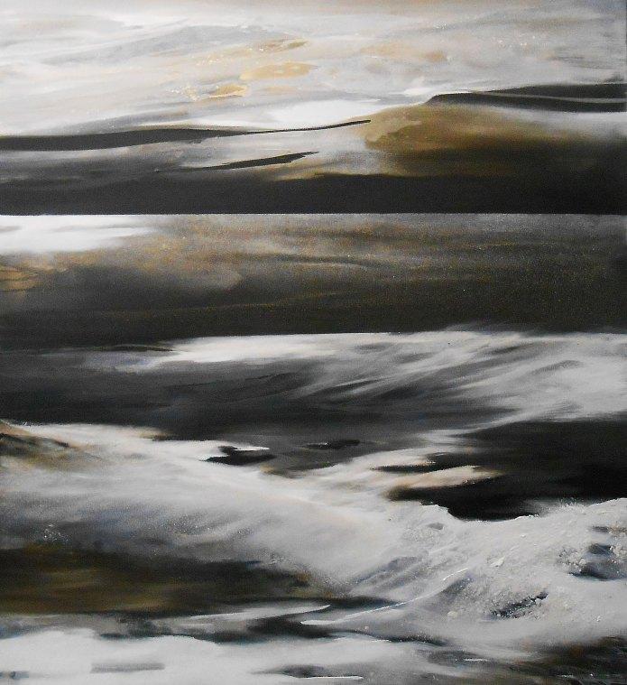 abstrakte Landschaft, Meer, abstrakte Kunst, Conny Niehoff