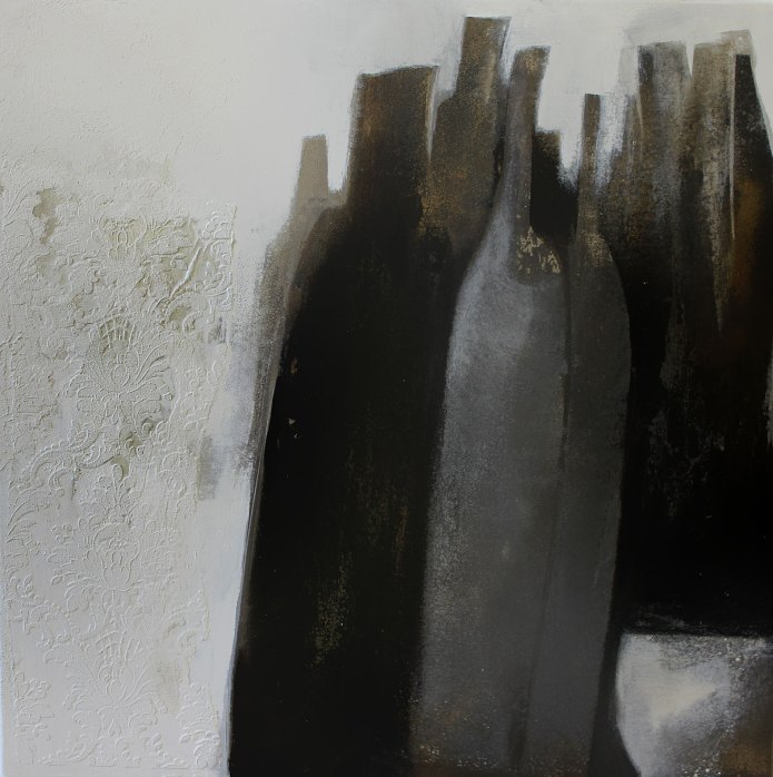 Stillleben, 100/100 cm, abstrakte Malerei, abstrakte Kunst, expressive Malerei, Acrylbilder, Acrylmalerei