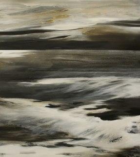 Nachts an der See, 220/200 cm, Acryl auf Leinwand, 2014, abstrakte Malerei, abstrakte Kunst, Bilder kaufen, Atelier Conny Niehoff