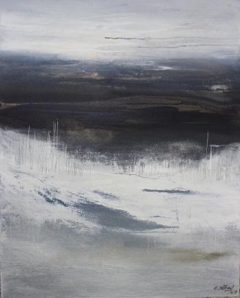 Abschied vom Winter II 80/100 cm Preis auf Anfrage, abstrakte Malerei, abstraktes Kunstwerk