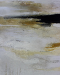 Nach dem Tag 80/100 cm Preis auf Anfrage, abstraktes Acrylbild
