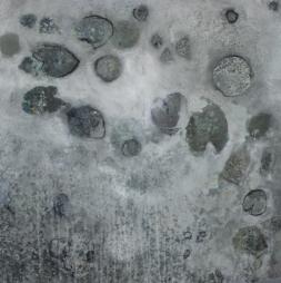 Froschgesang 100/100 cm Preis auf Anfrage, großformatige abstrakte Malerei, Kunst kaufen, Acrylmalerei von Conny Niehoff