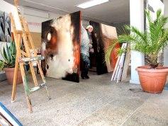 Auftragsmalerei, großformatige Leinwand, abstrakte Kunst