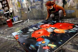 Makurse abstrakte acrylmalerei