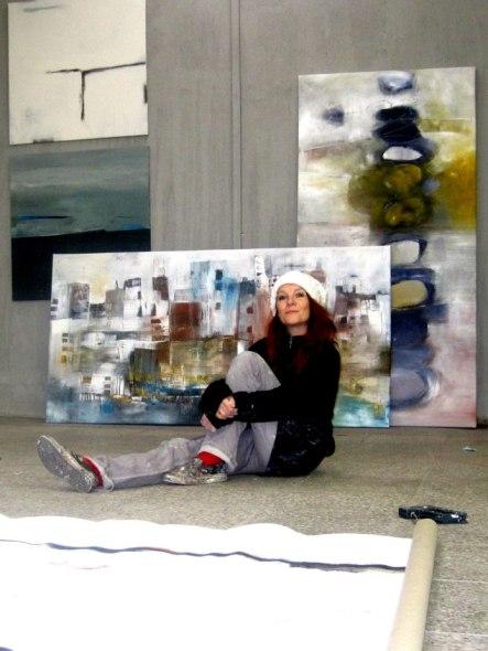 großformatige abstrakte Kunst kaufen im Atelier in Colbitz.
