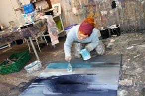 abstrakte acrylmalerei