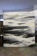 Srabdlandscgaft, gro0formatig, abstraktes Acrylbild