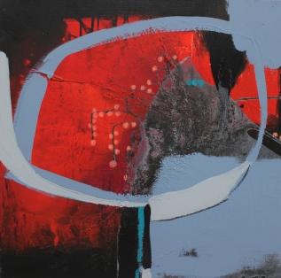 Farbflächen, Kunstwerk rot, anstrakt