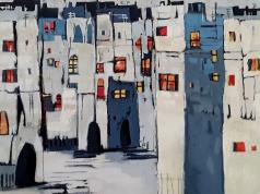 statdt, abstraktes Bild, Kunst kaufen