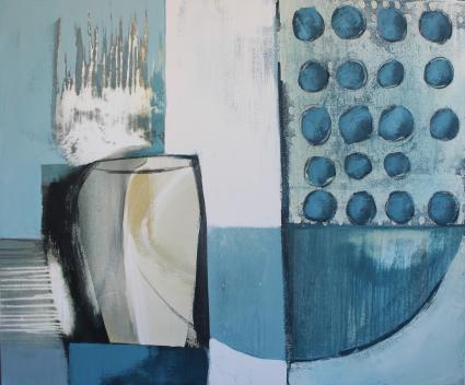 abstralte Kunst kaufen, Stilleben, blau