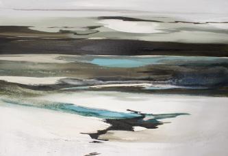 abstrakte Landschaft, Strand, Meer