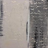 Alte Gardinen, abstraktes Kunstwerk, Acrylmalerei