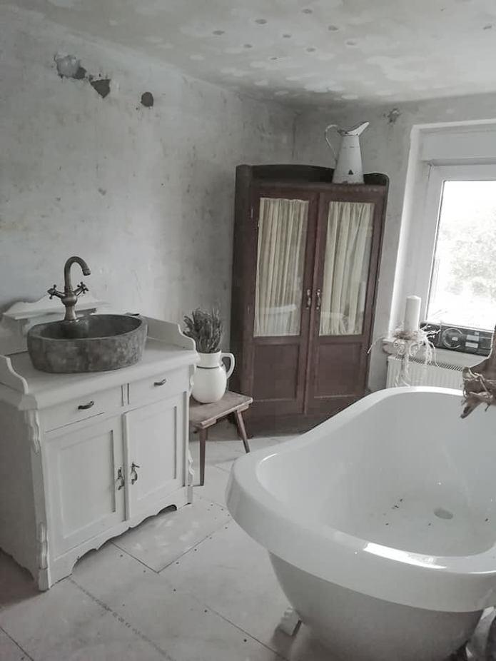 Bad renovieren, Neugestaltung Badezimmer, shabbychic, shabby ...