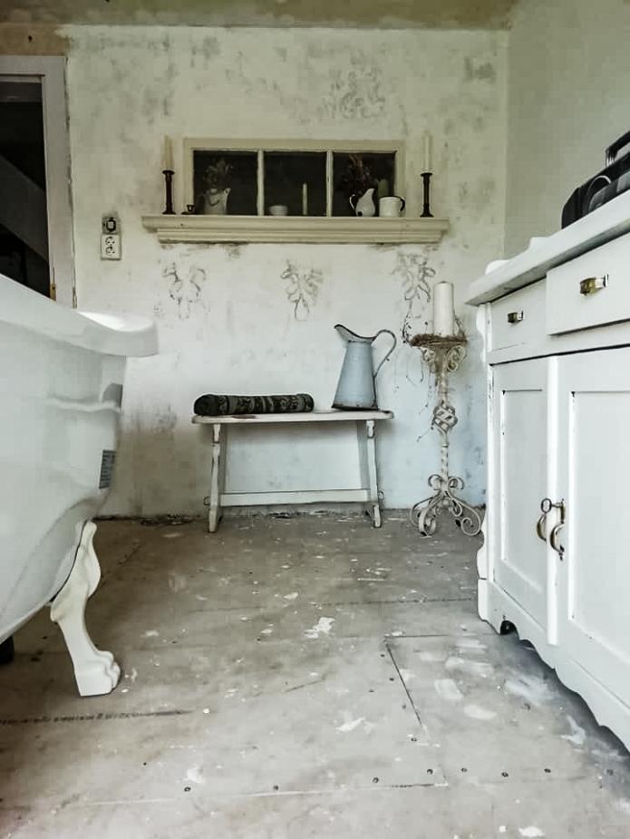 Shabbychic Wandgestaltung, Badezimmer renovieren, Wohnideen ...